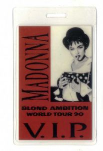 BLOND AMBITION TOUR - VIP LAMINATE PASS